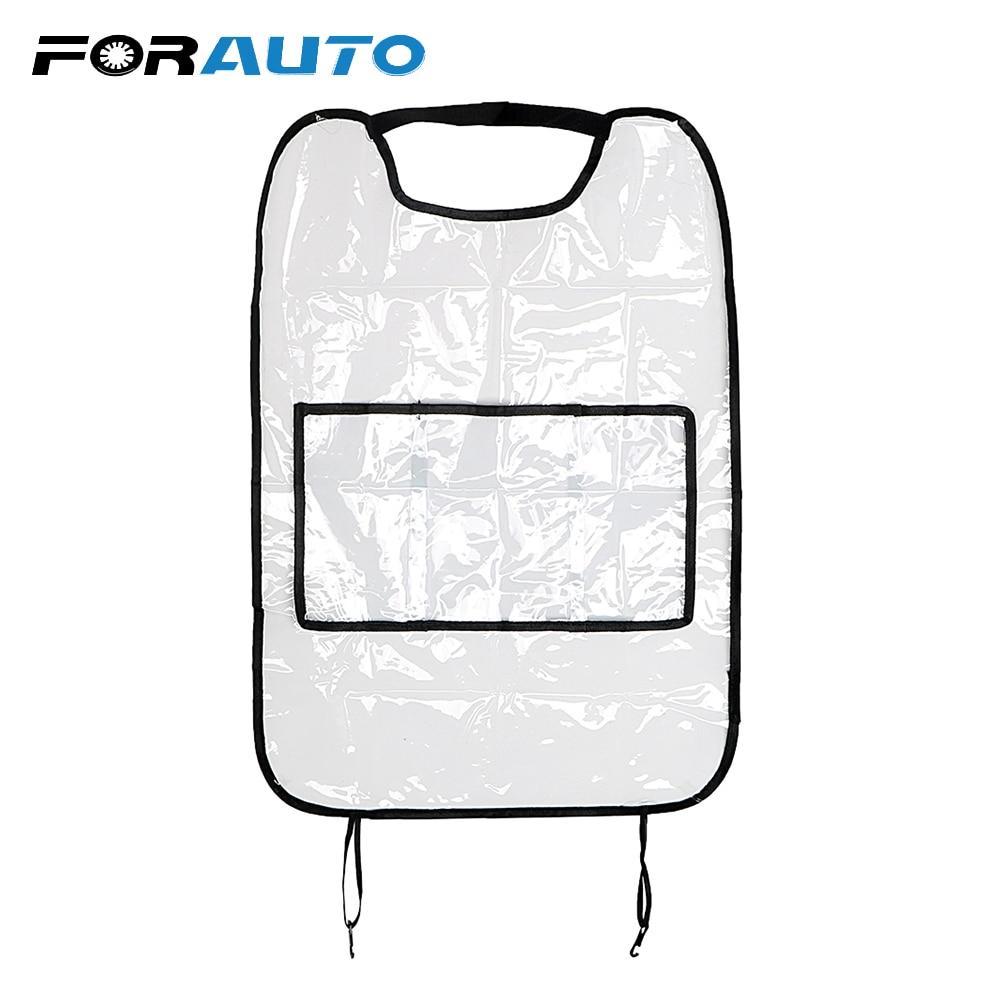 Protection de siège de voiture Anti-coup de pied pour siège arrière de voiture FORAUTO complètement Transparent pour les enfants