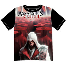 Envío Gratis Anime manga Assassins Creed Assassins Creed Camiseta Hombres de Las Mujeres Cosplay Camiseta de Malla Negro Tee 002