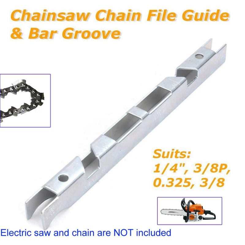 Depth Gauge File Guide & Bar Chainsaw Chain File Guide Bar Groove For 1/4