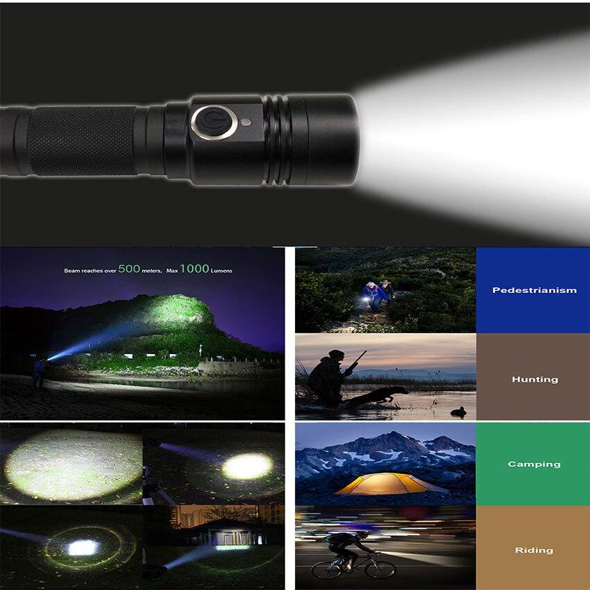 Lanternas e Lanternas t6 lanterna led sos tocha Feature 1 : Usb Flashlight