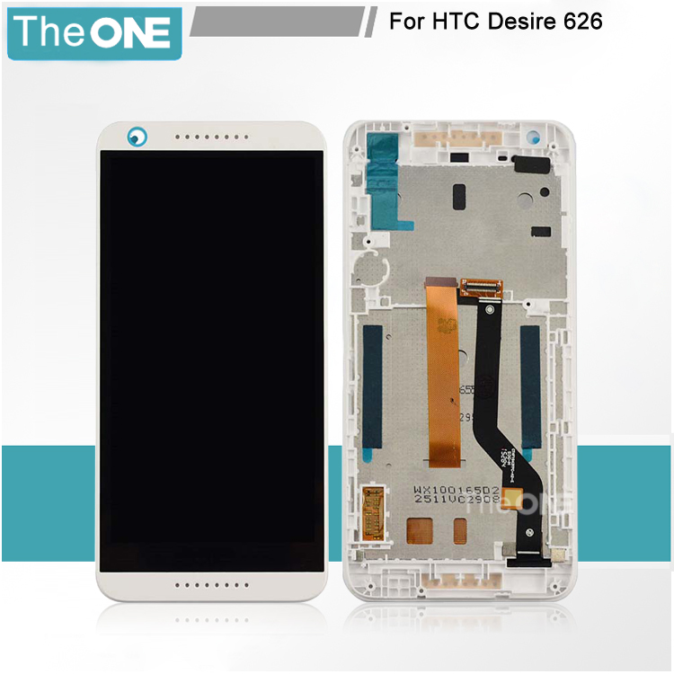 LCD Display + Touch Digitizer Screen glass for HTC Desire 626 D626 HTC626 626G Black,blue,white with frame Free shipping