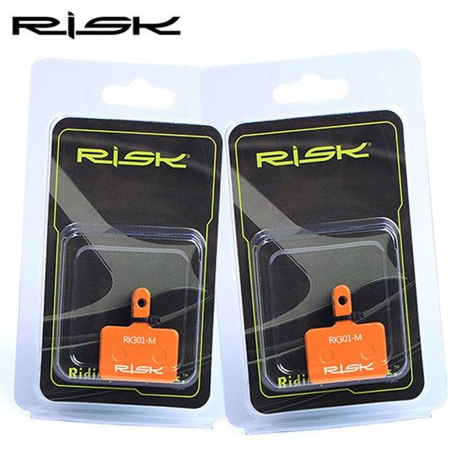 RISCO 1 par Bicicleta Pastilhas De Freio Disco Material Metálico Completo Laranja Ciclismo MTB Mountain Bike XT Freio Pad Para Downhill SHIMANO ÁVIDO 5