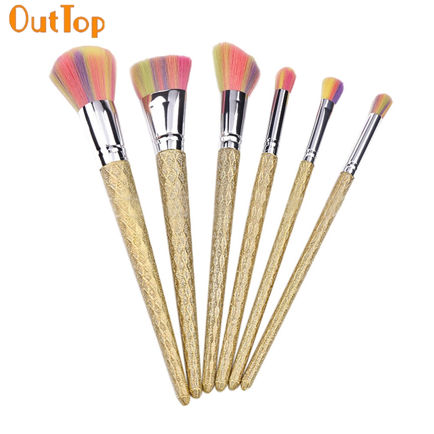 OutTop Love Beauty 8pcs/Set Vintage Colorful Hair Gold Plated ...