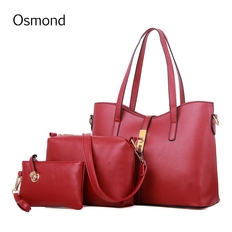ФОТО Osmond Bags Sets Women Handbags Lady Top-Handle European and American Style Fashion Large Capacity Totes Elegant Totes