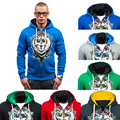 3 colors lion printed men hoodies hoody 2016 famous brand mens hoodies slim fit long sleeve sweatshirt men size 2xl