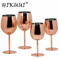 350ml / 550ml Rose Gold Stainless Steel Wine Glass Drinking Cup Champagne Goblet Barware Kitchen Tools Party Supplies