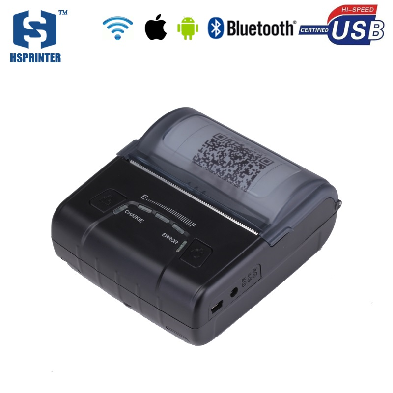 80mm wifi thermal mini receipt printer impressora bluetooth android ios portable ticket printing machine with 2500mAh battery