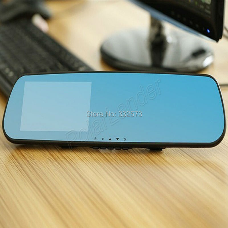 ФОТО Car Rearview Mirror Camera 4.3inch LCD+ Blue Mirror Design+ FHD 1080P+ 140degree Angle View+ Separated Rear camera