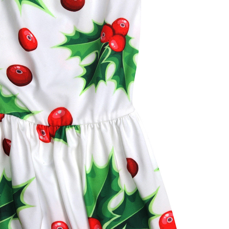 Adogirl 2017 New Women Christmas Dresses One Piece Christmas Berry 3d Print  O Neck Wrist Sleeves Ankle Length Women Party Dress-in Dresses from Women s  ... fc08508b965c