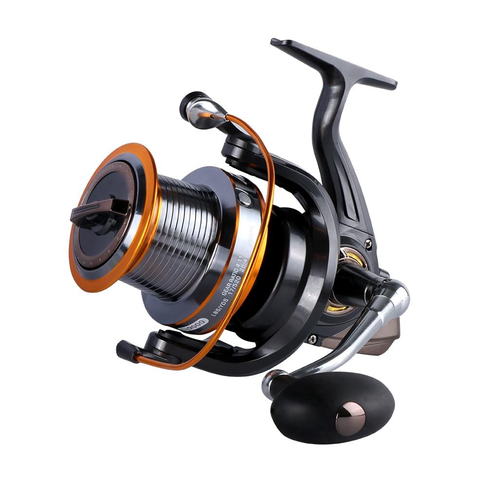 Goture Spinning Reel 12+1BB Fishing Reel Max Drag 15KG Saltwater Long Distance Trolling Wheel LJ9000 цена и фото