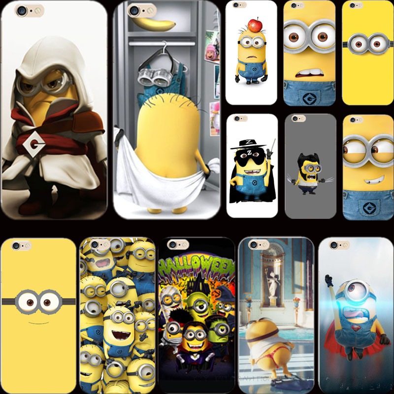 5 5S SE High Quality Cover Despicable Me Yellow Minion Case For Apple iPhone 5 5S iPhone5S Phone Cases Shell 2016 Top Fashion