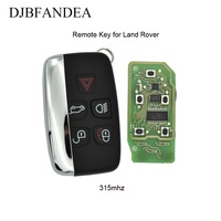 DJBFANDEA 315Mhz 5Buttons Complete Remote Key Fob For Land Rover Range Rover Sport Evogue LR4 Luxury 2010 2015 Keyless Entry key