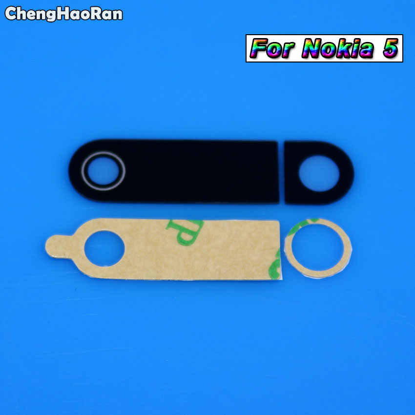 ChengHaoRan เลนส์ฝาครอบเลนส์ด้านหลังสำหรับ Nokia 3 5 6 6.1 7 Plus 8X5X6X7 Lumia 535 950 XL 1520 พร้อม Ahesive สติกเกอร์