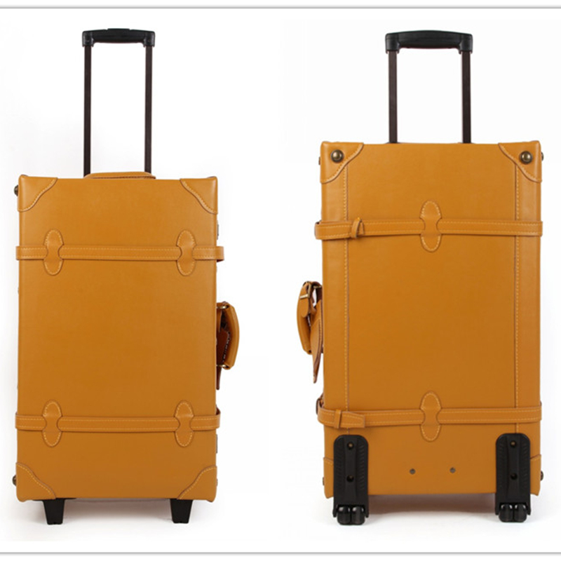 Customerized!18 20 22 24 28 30inch genuine leather retro trolley luggage for men and women,high quality vintage usa europe styleCustomerized!18 20 22 24 28 30inch genuine leather retro trolley luggage for men and women,high quality vintage usa europe style