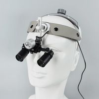 4X/5X/6X Medical Binocular Loupes Kepler Dental Surgical Loupe Surgical Examination Magnifier with LED Light