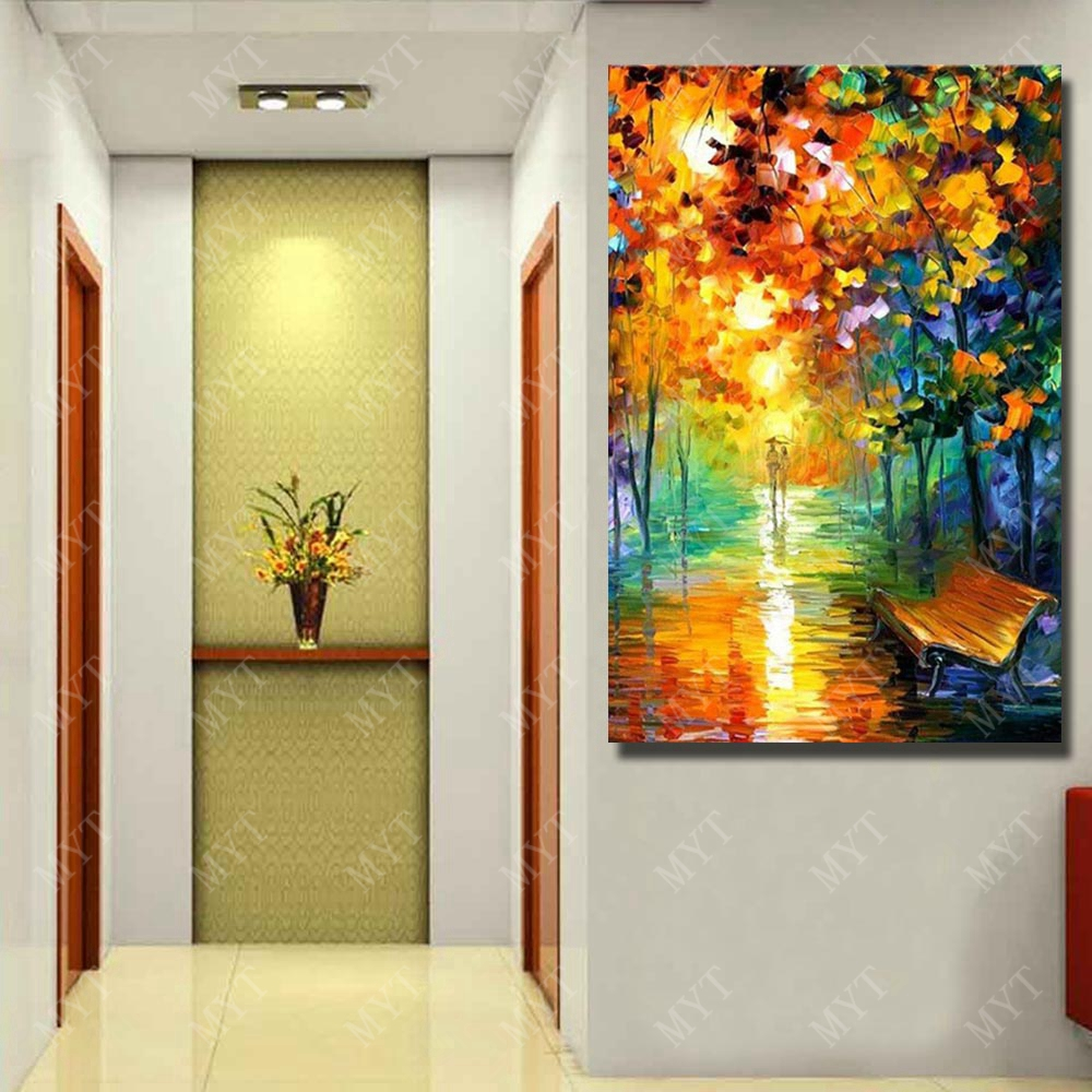 Beautiful Landscape Light Oil Painting Modern Canvas Art Painting ...