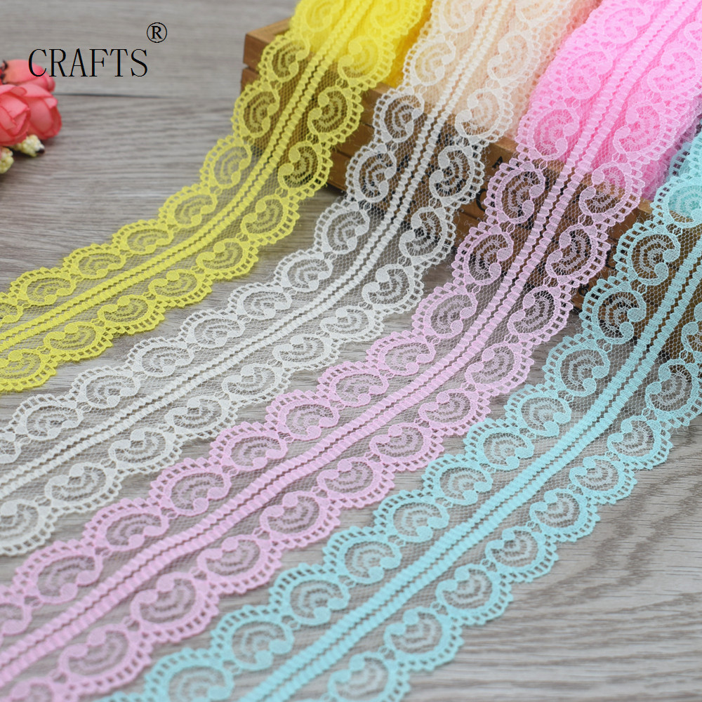 2018 New!  10 Yards Of Beautiful Lace Ribbon 4.5 Cm Wide DIY Jewelry Clothing / Flowers And Other Accessories 16 Color