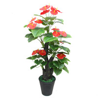 artificial plants 1.6 meters Anthurium tree plastic flower artificial bonsai tree for home decoration artificial flowers