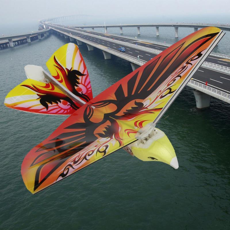Incroyable 4 couleurs volant e-bird enfant RC jouet pour enfants volant oiseau télécommande oiseaux volants bleu! Jouets rc 27 MHz