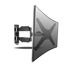 TV Wall Mount Bracket With Full Movement Swivel Articulating For Most 23″-55″ LED LCD Plasma Flat Display screen HDMI Cable