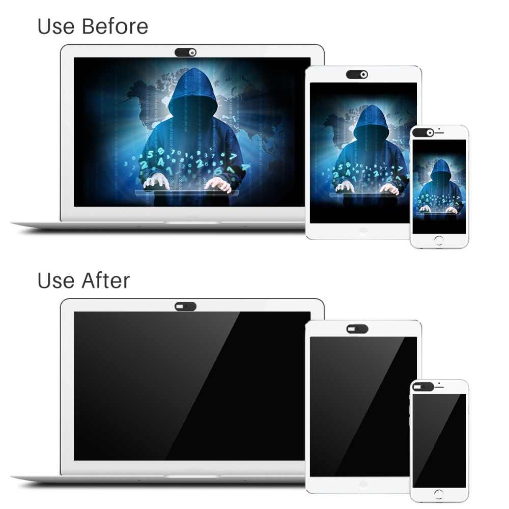 เว็บแคมแล็ปท็อปกล้องชัตเตอร์แม่เหล็ก Slider พลาสติกเว็บแคมกล้องด้านหน้าสำหรับ iPad สมาร์ทโฟนสำหรับ IPhone Samsung