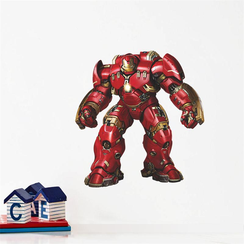 Popular Cartoon Movie 3d Iron Man Home Decor Wall Stickers