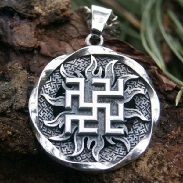 10pcs Fern Flower Pendant Ancient Slavic Amulet Symbol Warrior