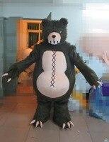 Фирменная Новинка индивидуальные черный медведь талисман костюм для Хэллоуина вечерние события