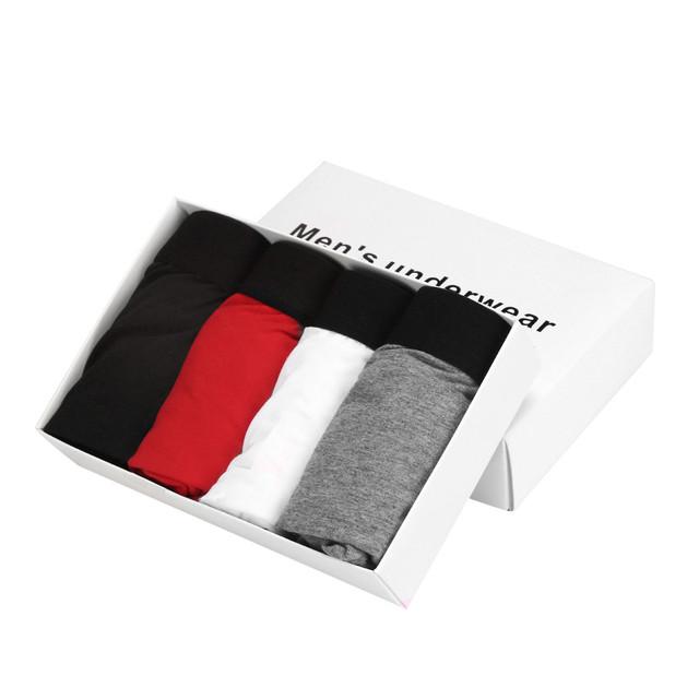4 pçs/lote boxers underwear man shorts masculinos dos homens modal underwear boxer shorts calcinhas cuecas bulge bolsa macia