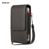 Juocan Fashion Lichee PU Leather Cell Phone Bag For Samsung S8 S7 Business Style With Card