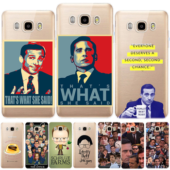 Faces of Michael Scott TPU Case Cover For Samsung Galaxy J3 J7 J8 J4 J6 2018 J2 J5 Prime J3 J5 J7 2015 2016 2017 M10 M20 M30 image