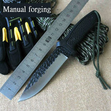 High quality Manual Forged Knife BUCK Fixed 5CR13MOV Blade Knife Survival Tactical Knifes Hunting Camping Knives Outdoor Tools X