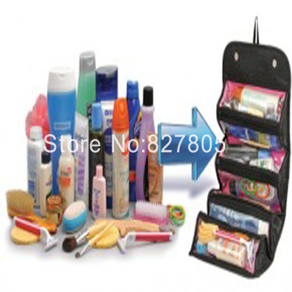 ef951e6fcea5 US $20.0  2Pcs/Lot Roll N GO Cosmetic Bag,Wash bag,Travel cosmetic bag , 4  COMPARTMENT ,Cosmetic Cases,TV Shopping free shipping-in Cosmetic Bags & ...