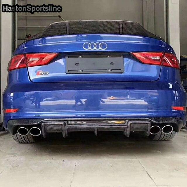 S3 Carbon Fiber Rear Diffuser Fit For Audi S3 RS3 S Line