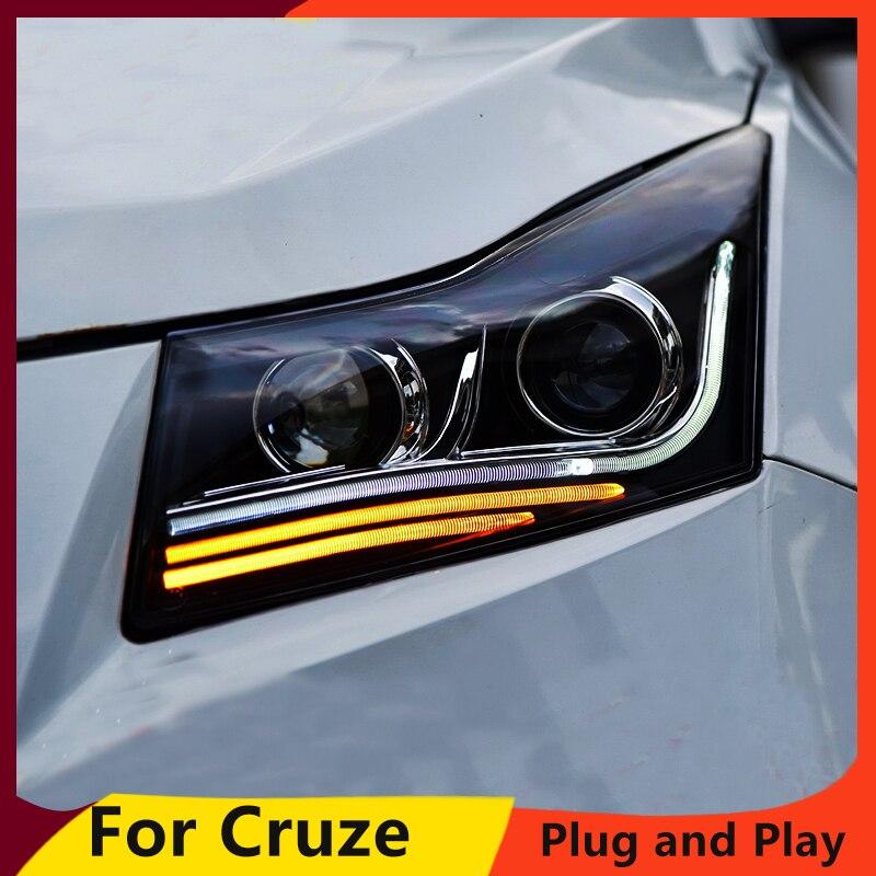 KOWELL Car Styling For Chevrolet Cruze Headlights 2009 2014 LED Headlight DRL Q5 Bi Xenon Lens
