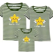 Familia T Camisas para familia de verano ropa a juego madre hija padre camiseta del bebé LUCKY STARS historieta del Verano 2017
