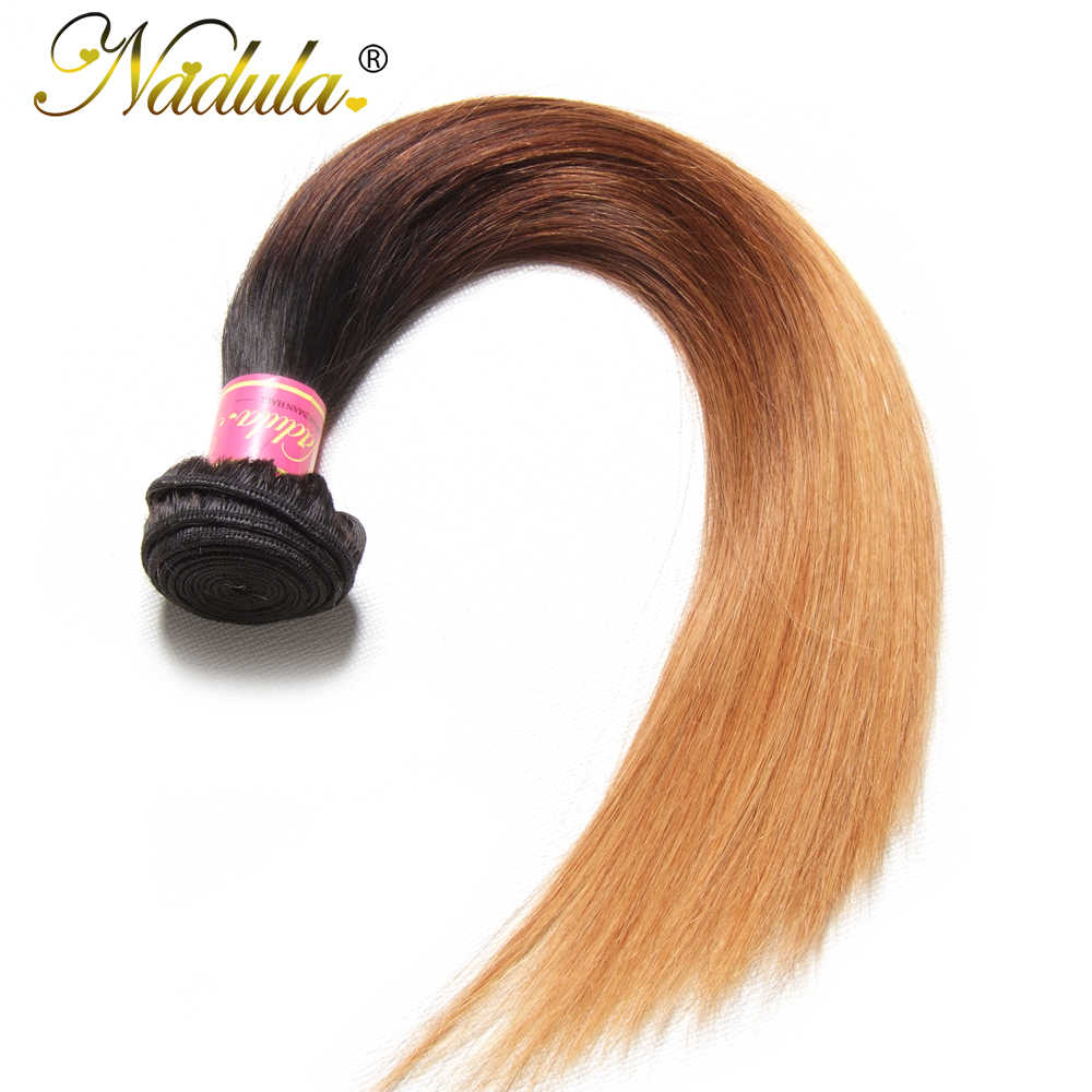 """Игрока Nadula пучки волос """"омбре"""" 16-26 дюймов перуанский прямые Пряди человеческих волос для наращивания 1B/4/27 цветные волосы Реми бесплатная доставка"""