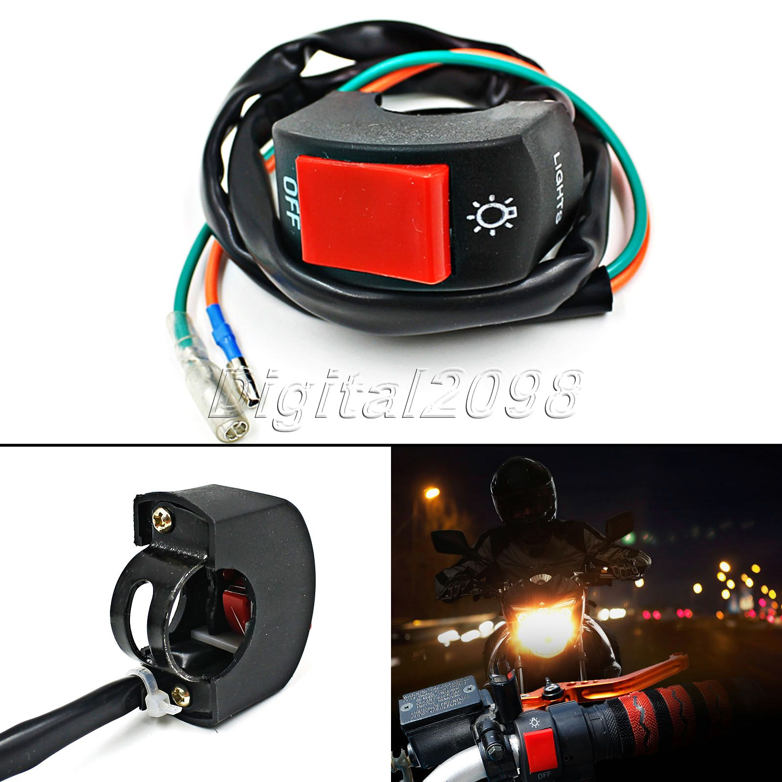 Headlight Switch Motorcycle Double Wiring Diagram Uk Universal 7 8 39 Handlebar