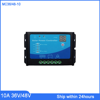 36V/48V Autoswitch 10A PWM Solar Charge Controller for Home PV System/LED Light Showing /use for Garden Light/E-bike Charging фото
