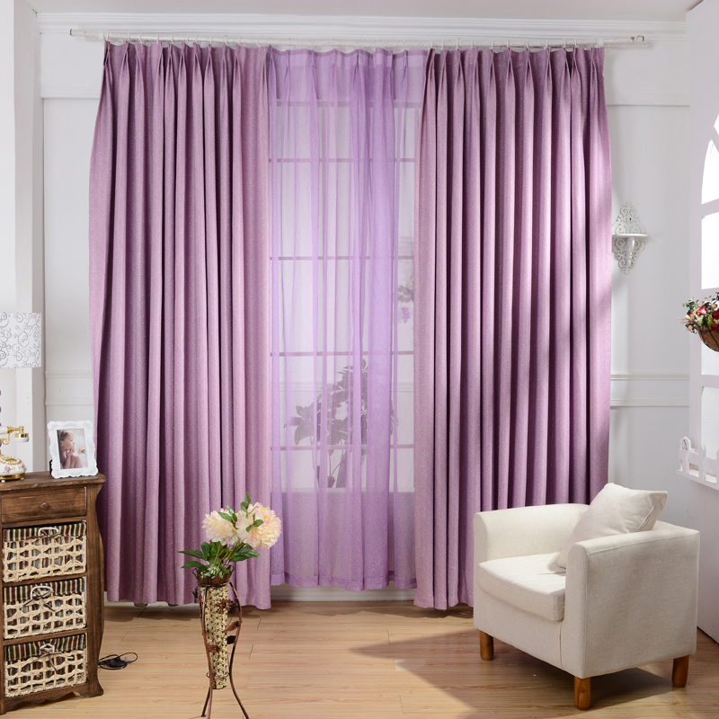 Curtain For Balcony: Modern Brief Heart Shape Balcony Curtains For Living Room