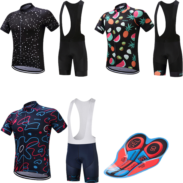 Pro cycling clothing men s 9D gel pad mountain bike jersey set funny  bicycle clothes kit maillot mtb retro sport wear skinsuit 77504d30d