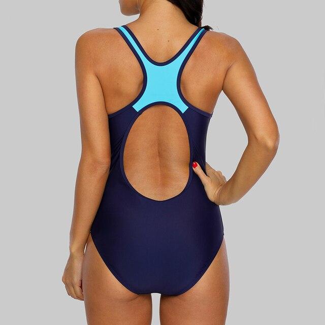Charmleaks One Piece Women Sports Swimwear Striped Swimsuit Women Bikini Beach Wear Bathing Suit Monokini 8
