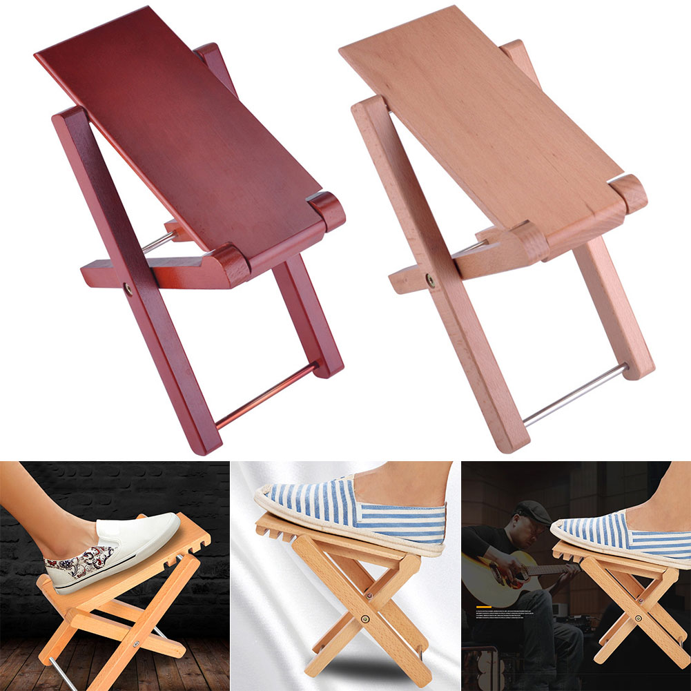 Incredible Wooden Guitar Foot Rest Stand Stool Pedal Foldable Adjustable Height Accessory Asd88 Ocoug Best Dining Table And Chair Ideas Images Ocougorg