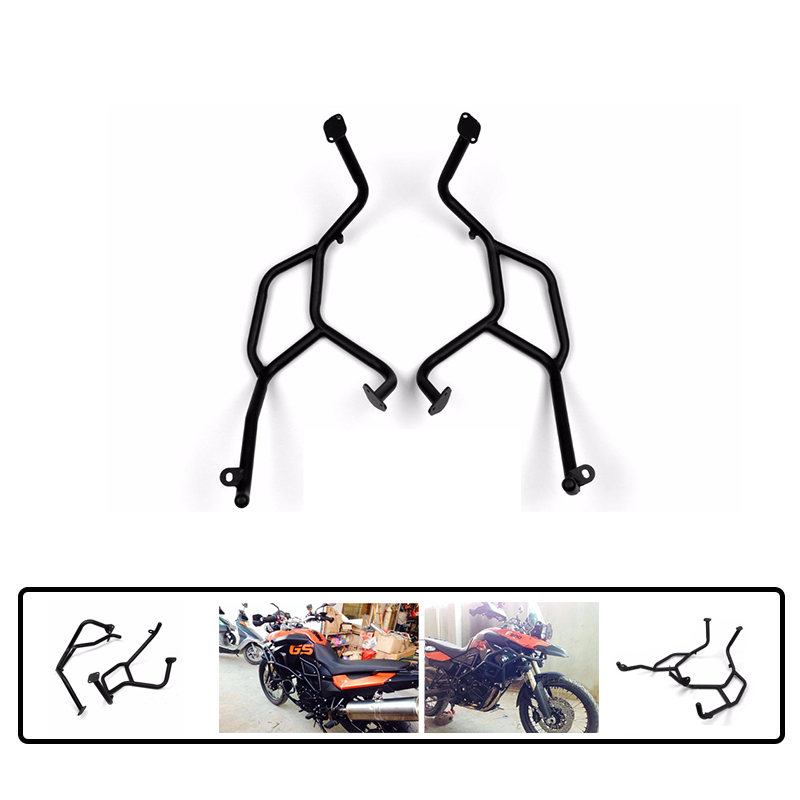 Motorcycle Black Front Upper Crash Bars Side Mount Engine Guard Frame Protection For BMW F800GS F700GS F650GS 2008 2013