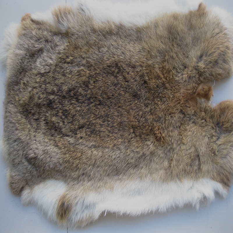 10 by 12 Rabbit Pelt with Sewing Quality Leather Natural Black Natural Tanned Assorted Rabbit Pelts Rabbit Fur Hide