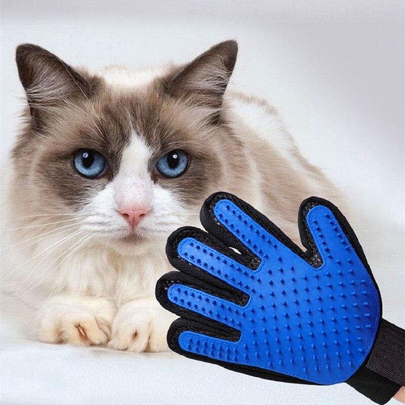 Pet Grooming Gloves Cat Brush Comb Cat Pet Hair Removal Brush Gloves Animal Dog Pet Hairdressing Gloves Cat Dog Grooming V003