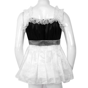 Image 5 - iiniim Adult Baby Mens Sissy Babydoll Crossdress Ruffled Lace Tulle Dress with Waist Belt Gay Male Night Club Costume Mini Dress