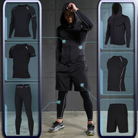 Men S Gym Training Fitness Sportswear Athletic Physical Workout Clothes Suits Running Jogging Sports Clothing Tracksuit