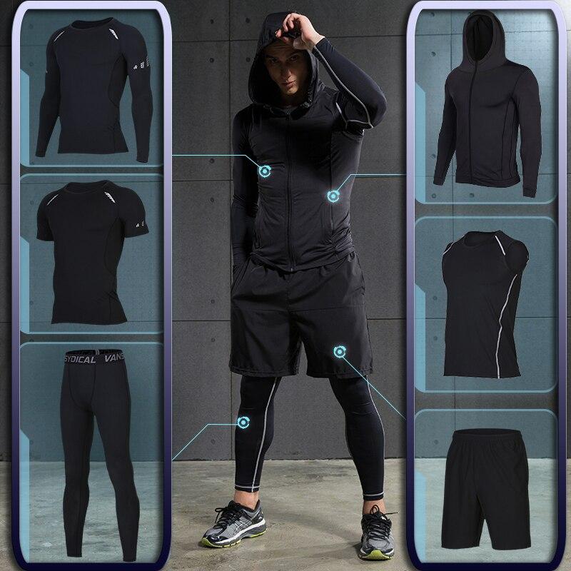 Herren Gym training Fitness sportswear Athletisch physikalische workout Kleidung Anzüge Laufen jogging Sport kleidung Trainingsanzug Dry Fit
