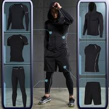Los hombres de gimnasio de entrenamiento Fitness ropa deportiva Atlético  Física Ropa de entrenamiento ropa trajes correr jogging. 1d16afacdd285